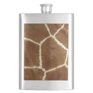 Nature Textured Photo Giraffe Animal Print Pattern Flask