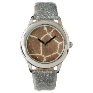 Nature Textured Photo Giraffe Animal Print Pattern Watches