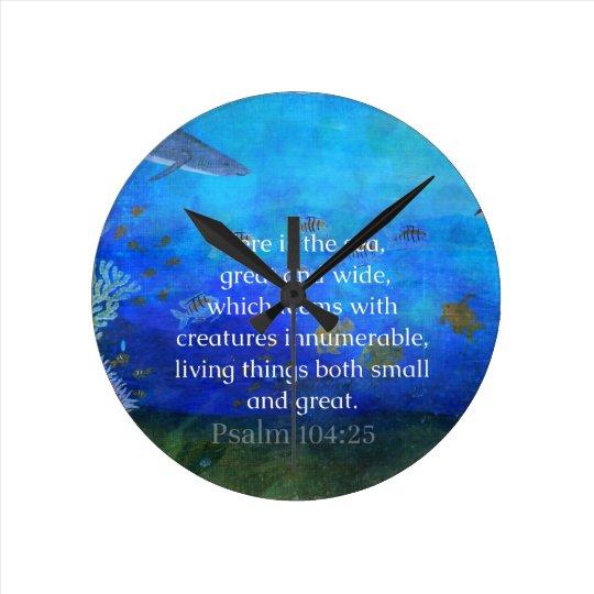 Nature themed Bible Verses about SEA Genesis 1:21 Clocks