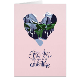 Nature Themed Romantic Designer Card - Mountains