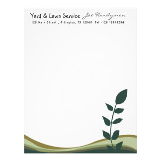 Nature Tree Branch Eco Green Organic Business Custom Letterhead