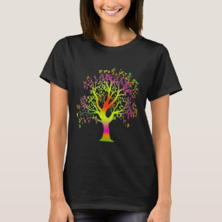 nature tree hugger colorful tree shirt design