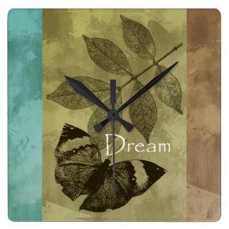 Nature Trio Dream Square Wall Clock