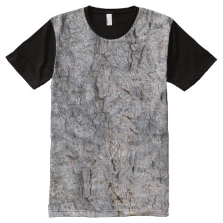 Nature Tropical Tree Bark Photo All-Over-Print T-Shirt