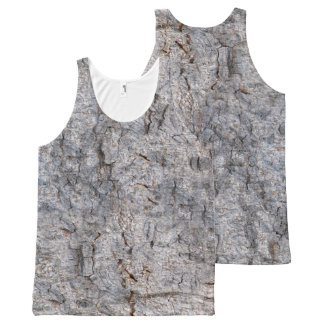 Nature Tropical Tree Bark Photo All-Over-Print Tank Top