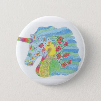 Nature Unicorn 2 Inch Round Button