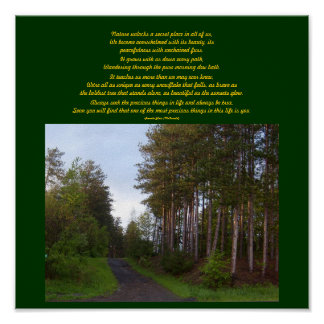 Nature unlocks a secret place...Poem Poster