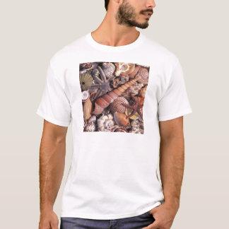 Nature Water Assorted Shells Beach T-Shirt