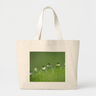 Nature Water Drops Connect with Cosmic Large Tote Bag