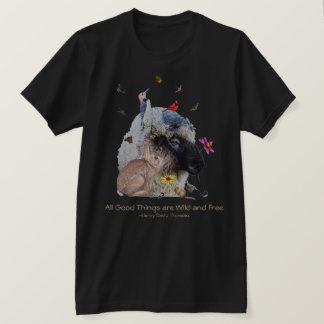 Nature Wildlife with Thoreau quote: T-Shirt