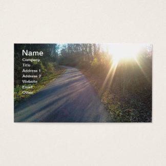 Nature Woods Path Sun Rays Grass Business Card