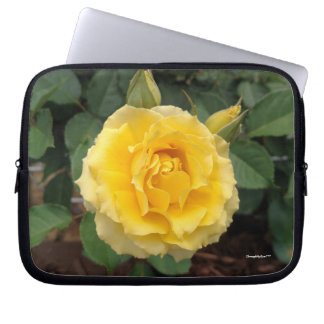 Nature Yellow Bloom Rose Computer Electronics Bag