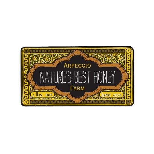 Natures Best Honey Jar Personalized Label