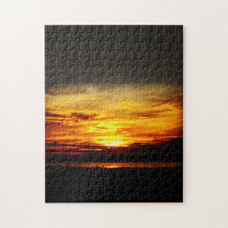 Natures Best - Prairie Lake Sunset Puzzle