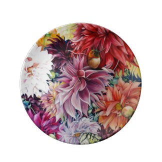 Nature's Bounty Dahlia Porcelain Plate