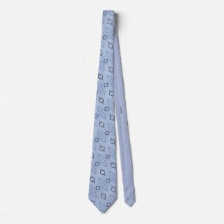 Nature's geometry blue tie