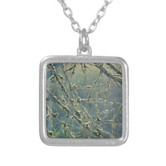 Nature's Lace Silver Plated Necklace