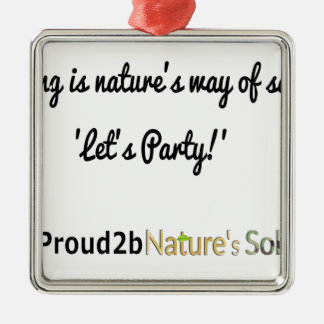 Nature's Soldiers Slogan 1 Metal Ornament