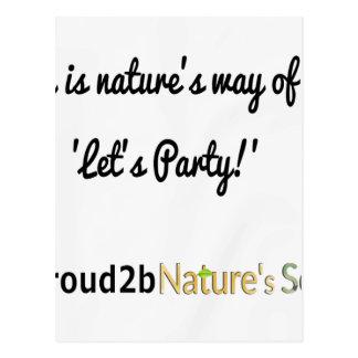Nature's Soldiers Slogan 1 Postcard