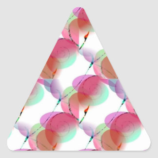 Nature's Spiral Design Triangle Sticker