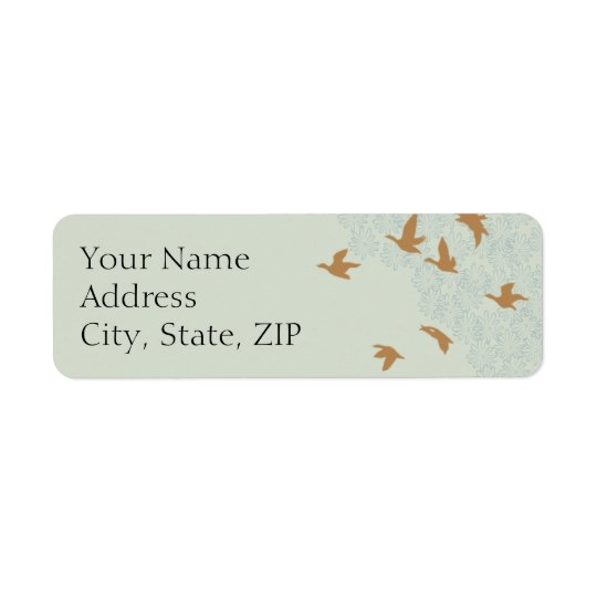 Natures Splendour Ecru Anniversary Return Address Return Address Label