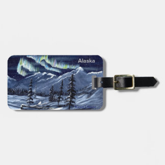 Nature's Winter Aurora Luggage Tag