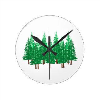 Nature's Wonderland Round Clock