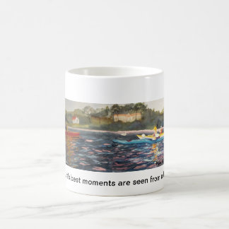 Natures's best moments are seen from a kayak coffee mug