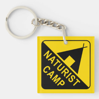 Naturist Double-Sided Square Acrylic Keychain