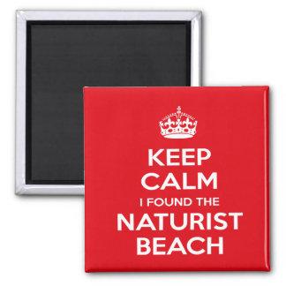 Naturist / Nudist Keep Calm Magnet
