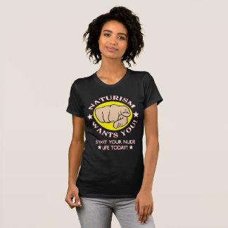 Naturists, Naturism Recruitment T-shirt