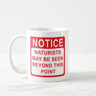 Naturists, Naturist Beach Sign Mug