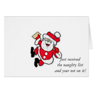 Naught List Greeting Card