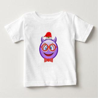 Naughty and Geeky at Christmas Emoji Baby T-Shirt