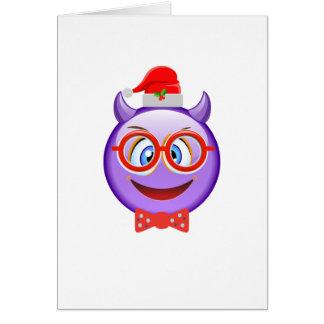 Naughty and Geeky at Christmas Emoji Card
