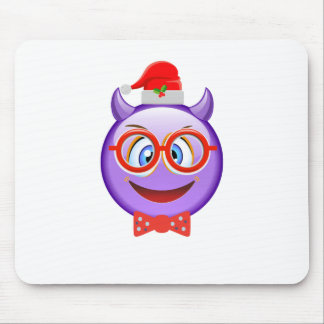 Naughty and Geeky at Christmas Emoji Mouse Pad