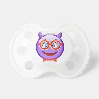 Naughty and Geeky at Christmas Emoji Pacifier