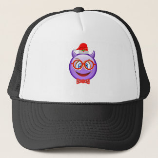 Naughty and Geeky at Christmas Emoji Trucker Hat