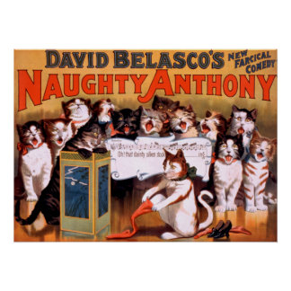 Naughty Anthony Theater Cats Poster