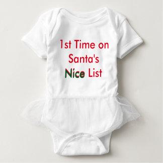 Naughty Baby: 1st Nice List Tutu Baby Bodysuit