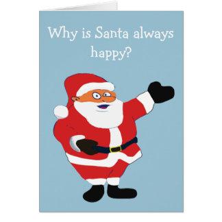 Naughty Bikini Girl Santa Christmas Humor Card