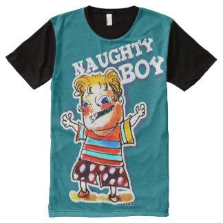 naughty boy cartoon style illustration