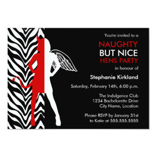 Naughty But Nice Hens Party / Bachelorette Party Card
