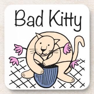 Naughty Cat Cartoon Coaster