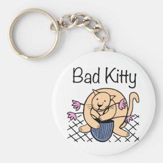 Naughty Cat Cartoon Keychain