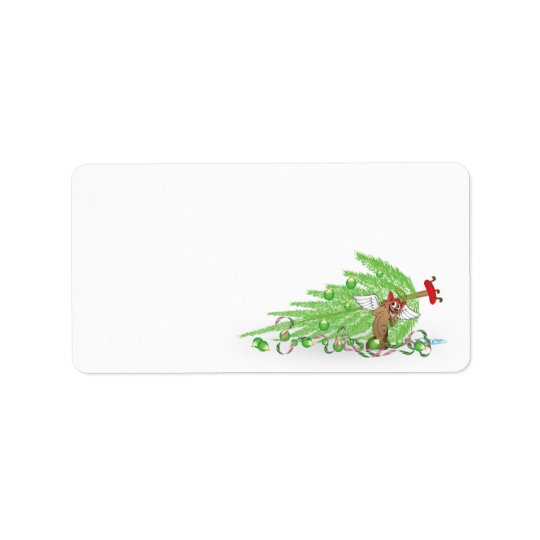 Naughty Cat Christmas Envelope Labels