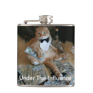 Naughty Cat Hip Flask