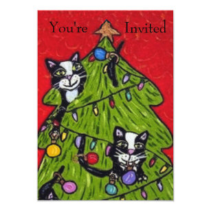 Cat Playing Invitations & Announcements | Zazzle CA