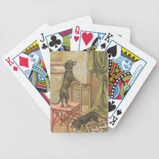 Naughty Dachshunds Dog Playing Cards