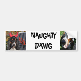 NAUGHTY DAWG BUMPER STICKER